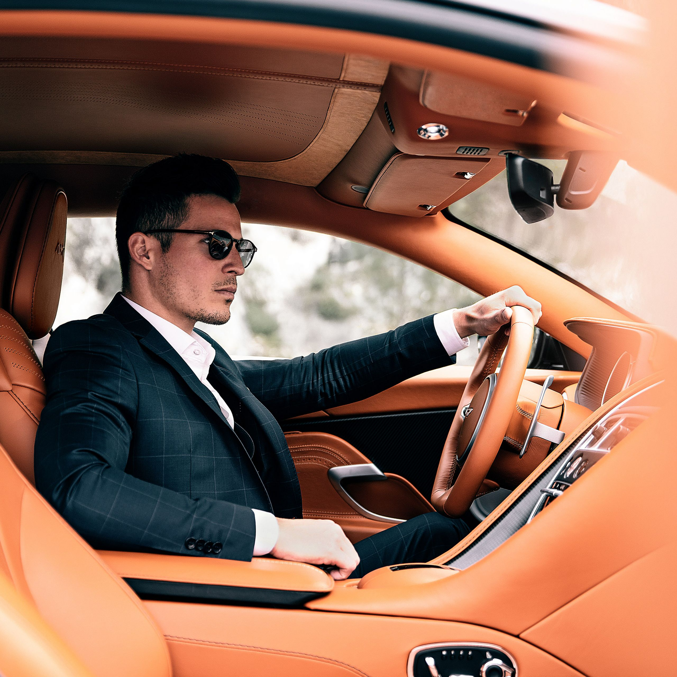 aston martin db11 class suit tom claeren luxury influencer