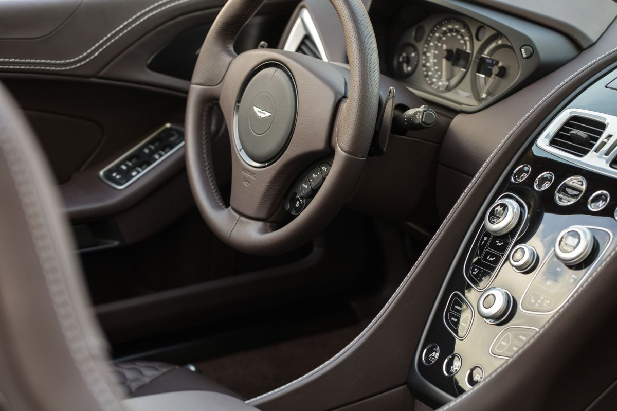 aston martin vanquish volante interior leather brown luxury
