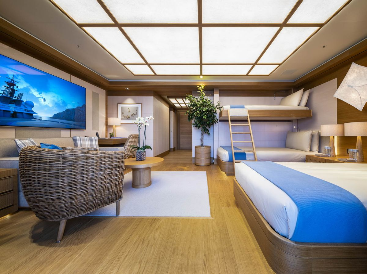 bedroom superyacht charter flying fox