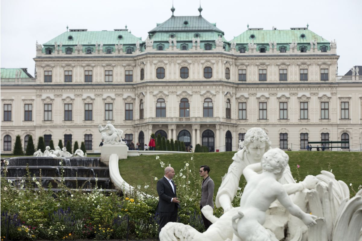 belvedere museum palace art collection garden view classic