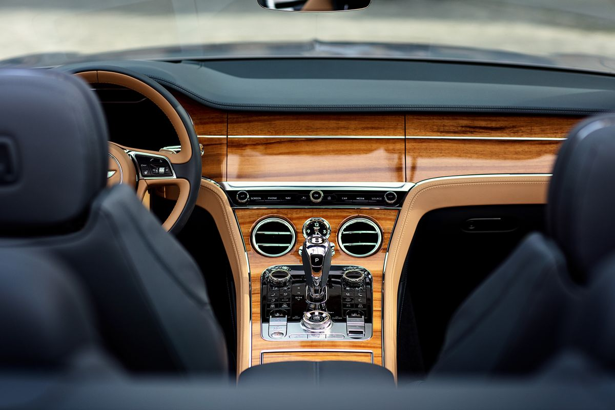 bentley continental gtc interior sleek