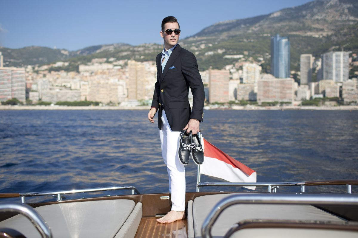 brooks brothers outfit yacht day monaco riva