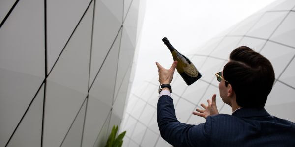 CHEERS WITH<br><b>DOM PERIGNON</b>
