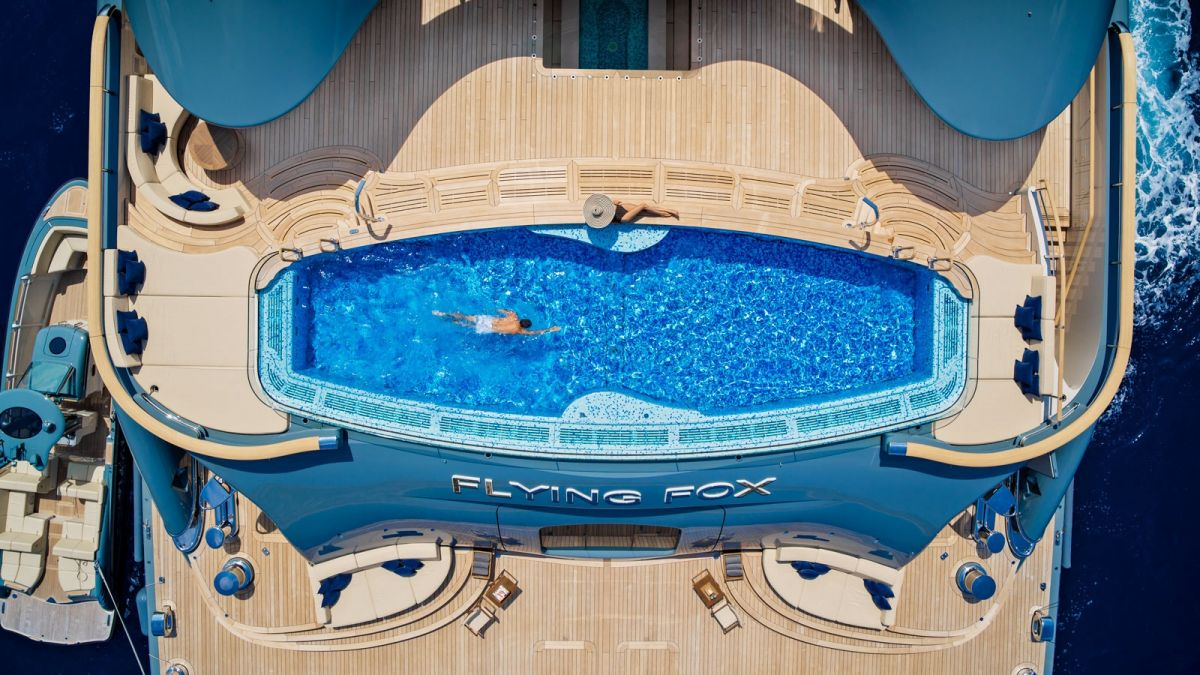 flying fox superyacht pool