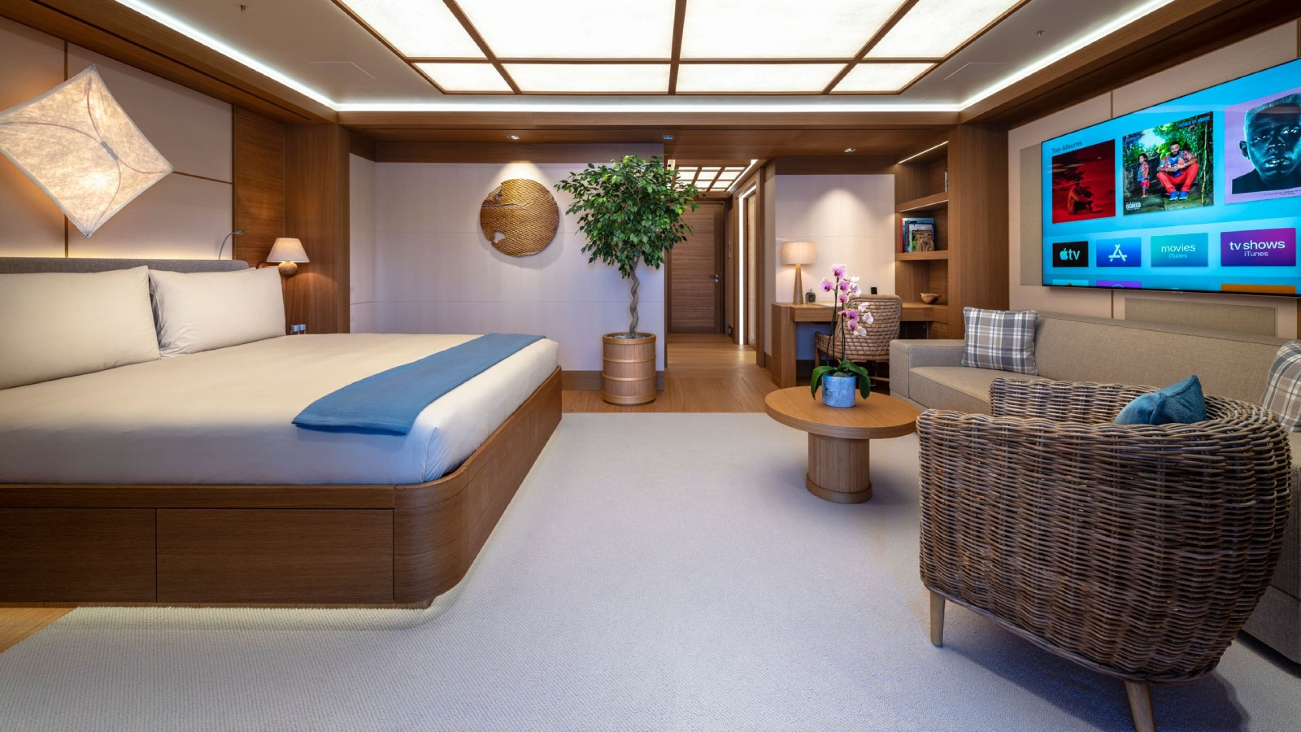 interior design superyacht flying fox