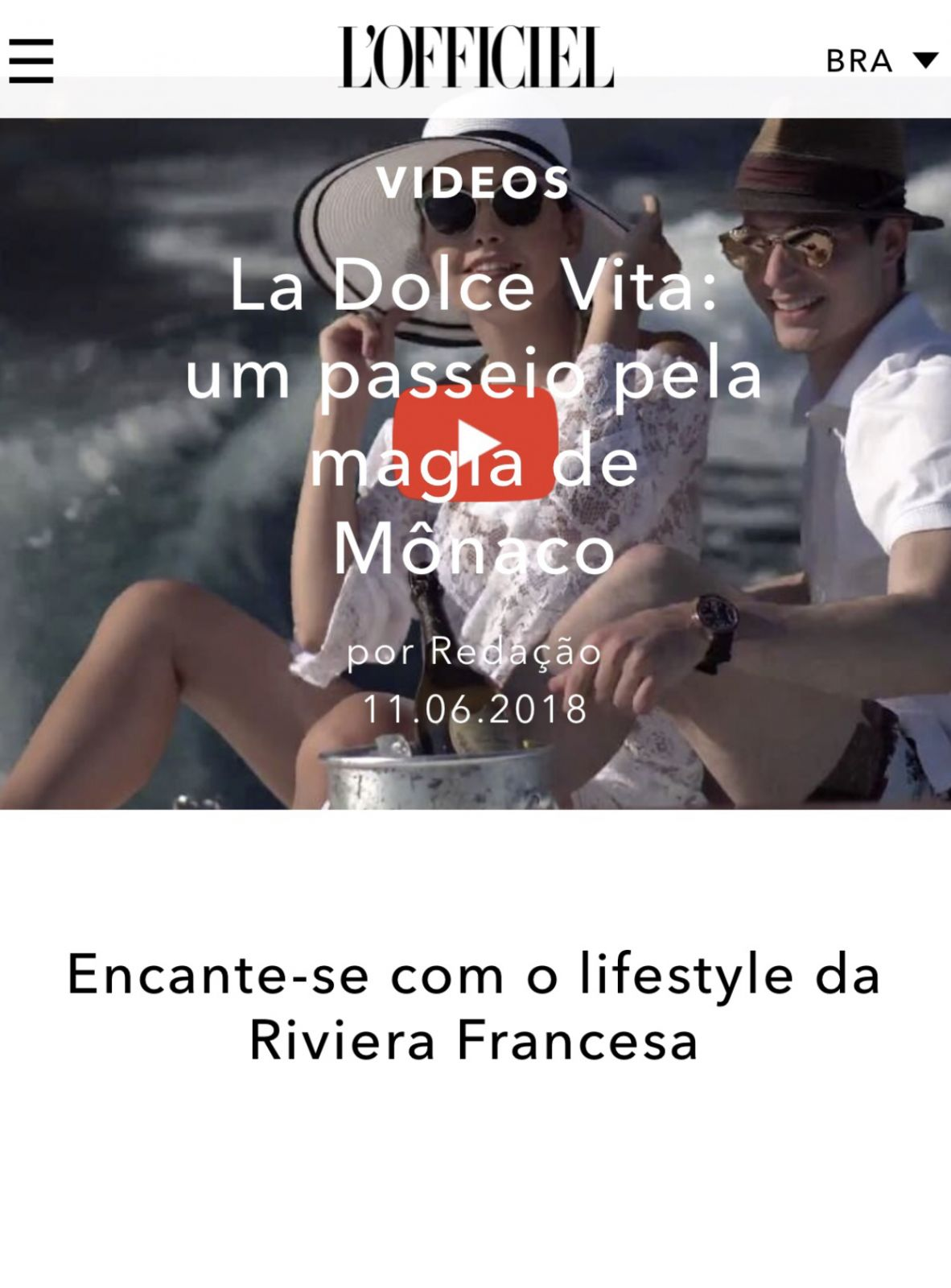 l'officiel brasil tom claeren short film video
