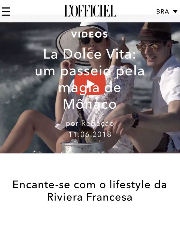 L'OFFICIEL BRASIL<br><b><I>DOLCE VITA</i> FILM FEATURE</b>