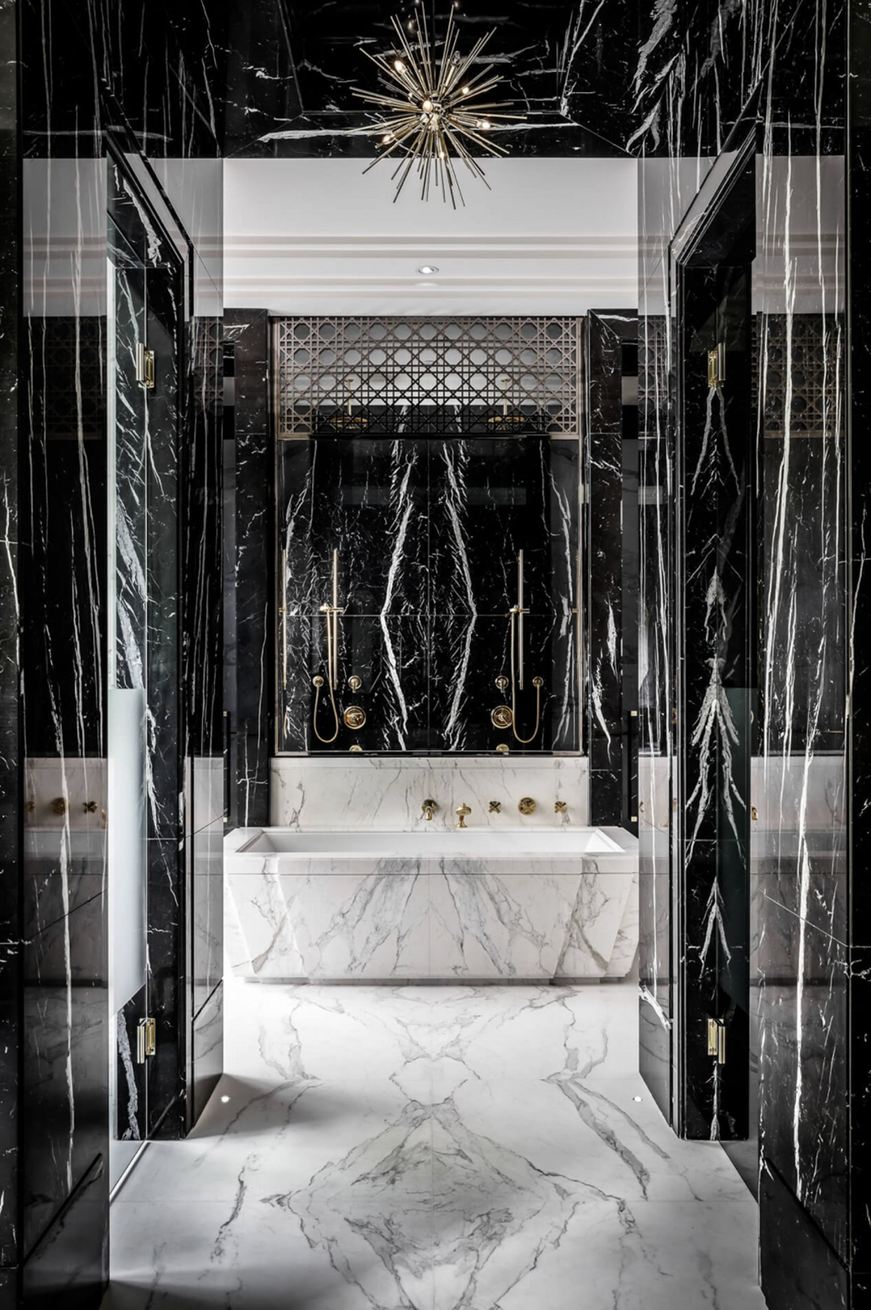 luxury bathroom drake manor marble interior design Rafauli