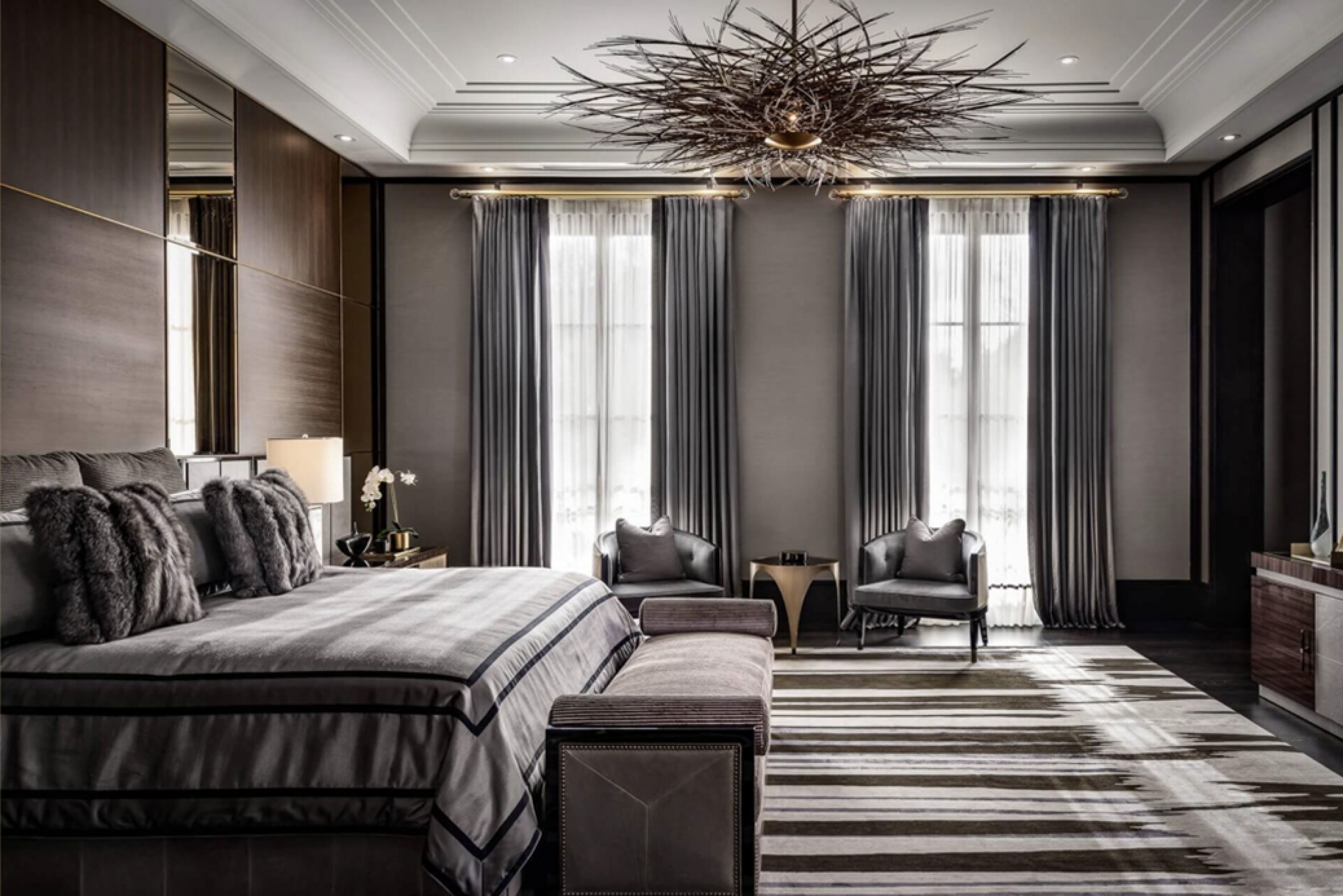 luxury bedroom drake manor marble interior design Rafauli