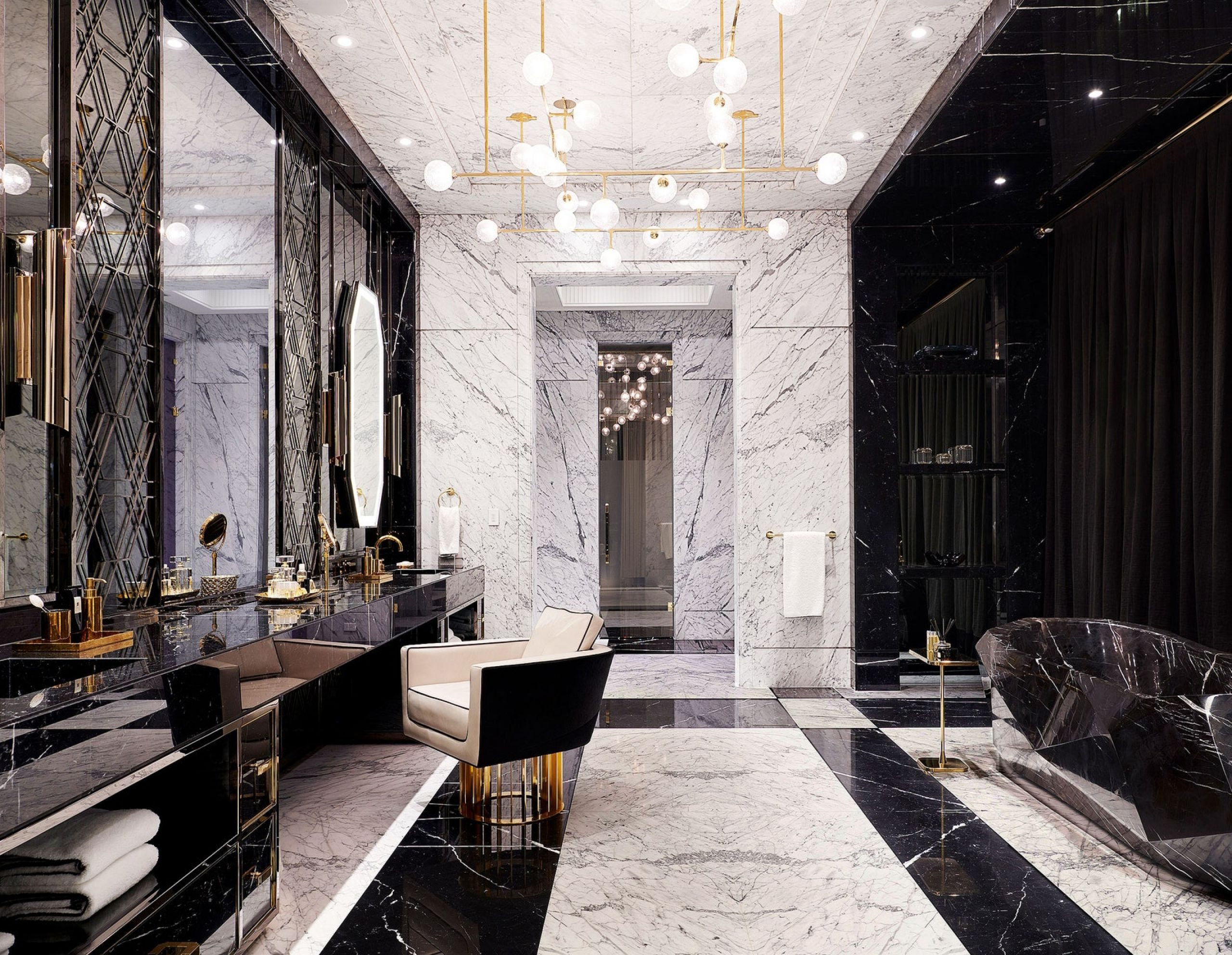 master bedroom drake manor marble interior design Rafauli