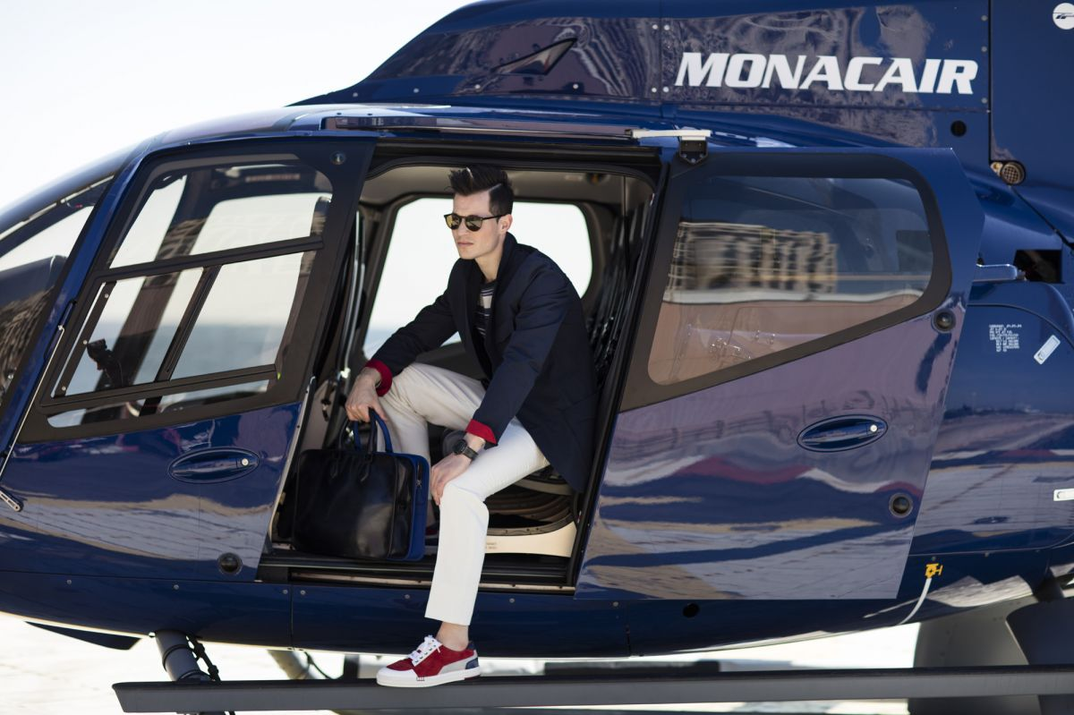 monacair arrival helicopter