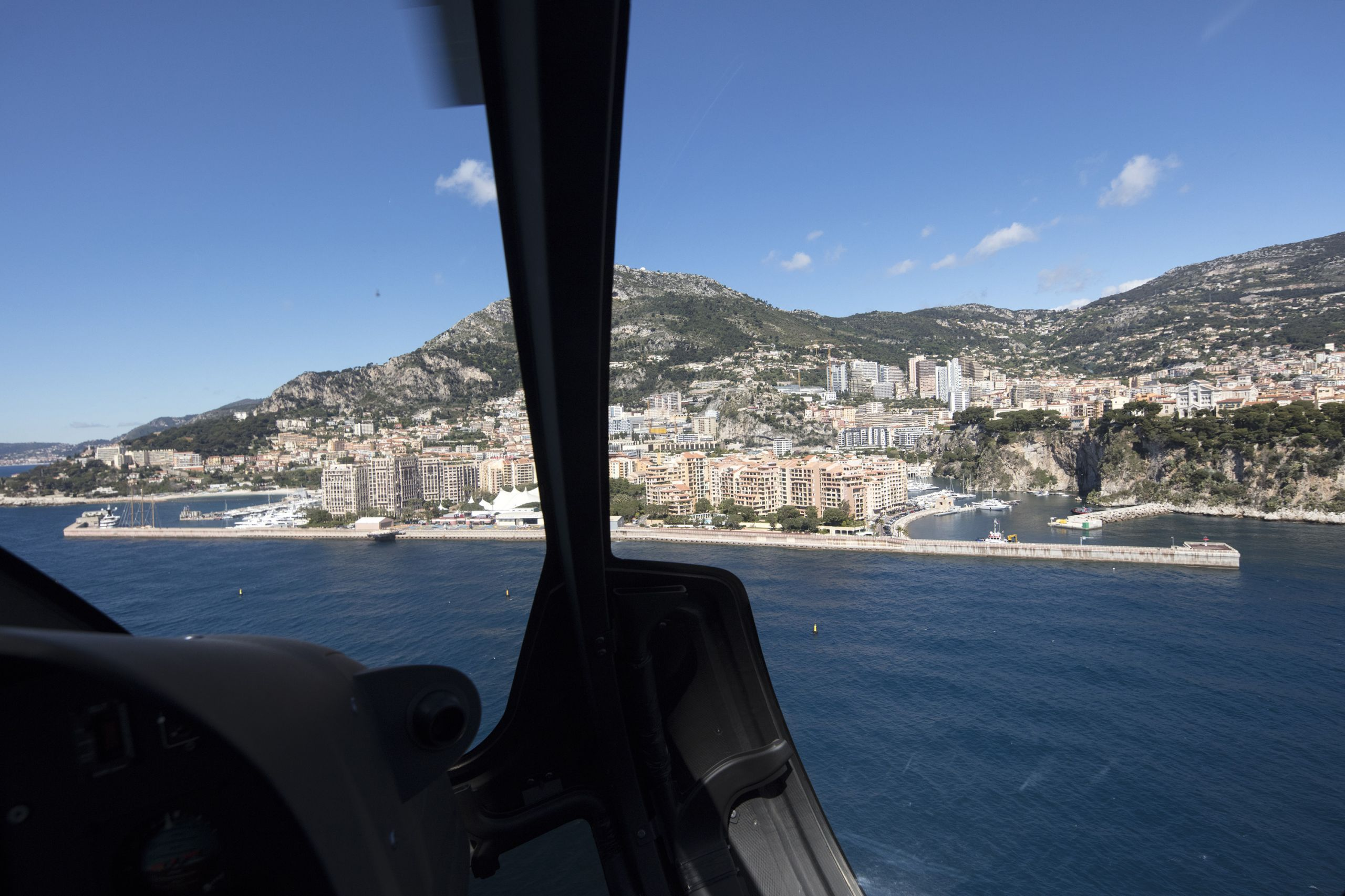 monaco view from helicopter