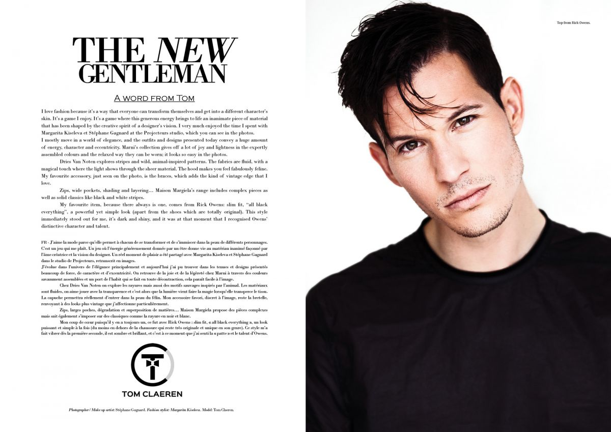 projecteurs magazine tom claeren editorial portrait