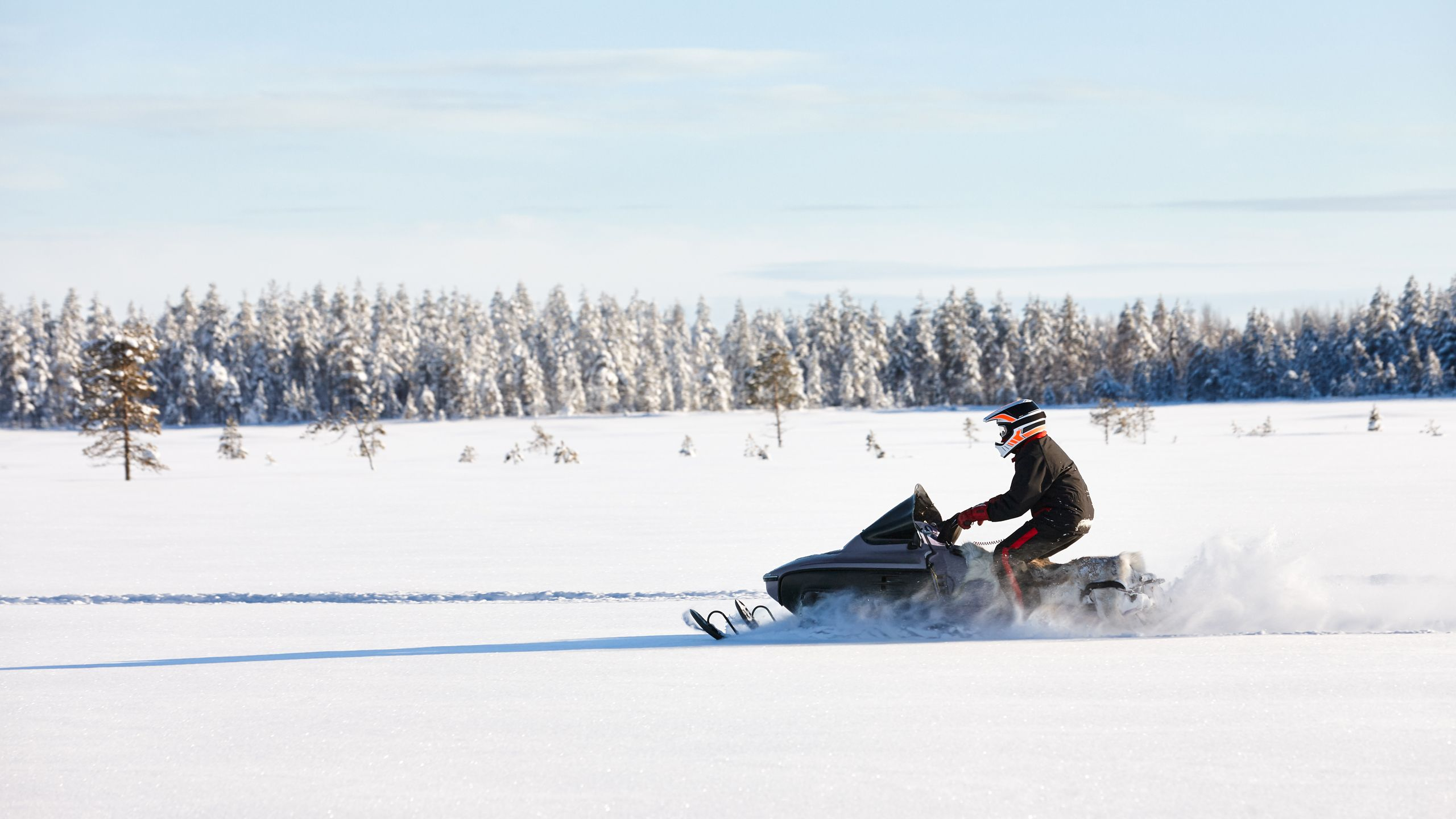 snowmobile ride sweden