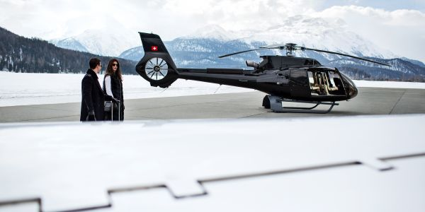 ST. MORITZ GETAWAY WITH THE <br><b>AIRBUS ACH130</b>
