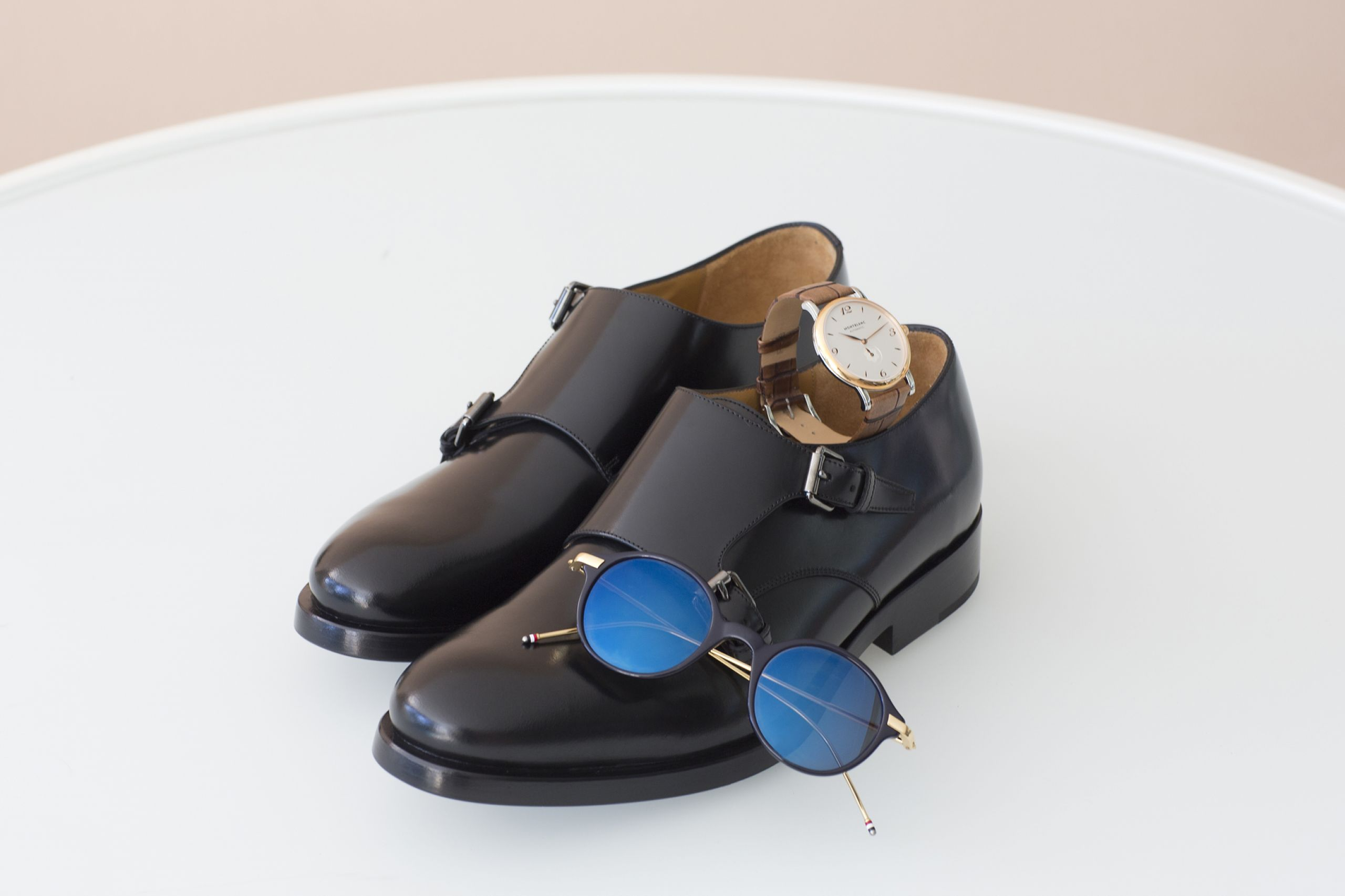 thom browne shades montblanc watch valentino shoes