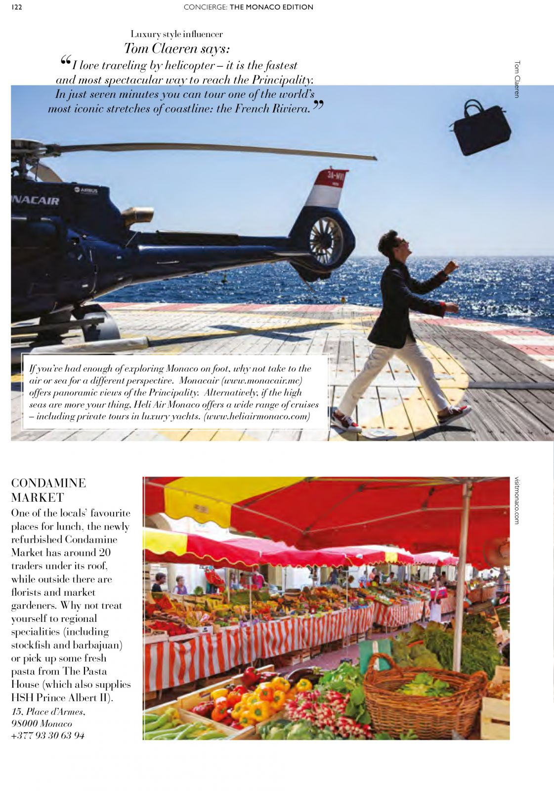 tom claeren interview concierge magazine formula one MOnaco monte carlo