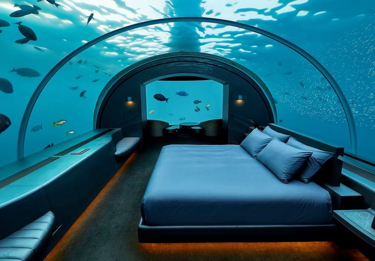 underwater bedroom maldives conrad muraka luxuory hotel