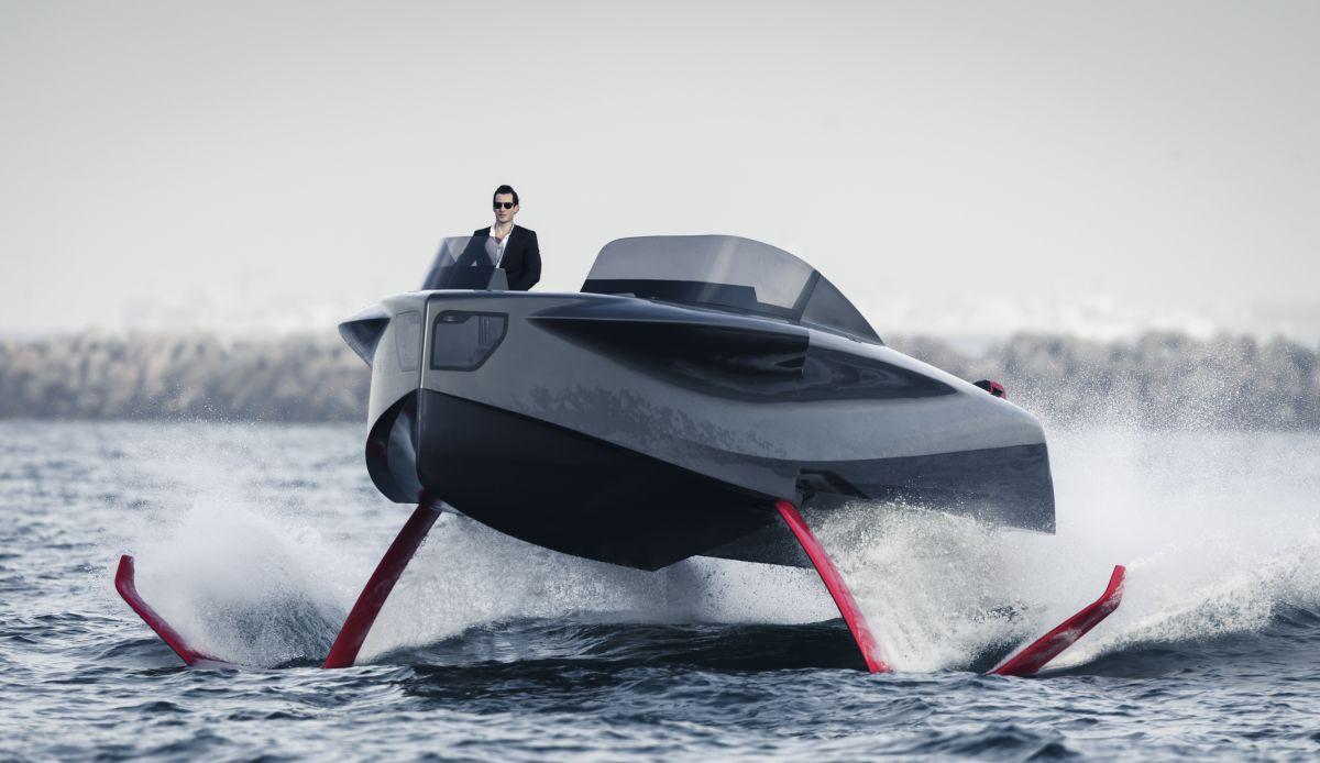 yacht tend futuristic flying boat tom claeren